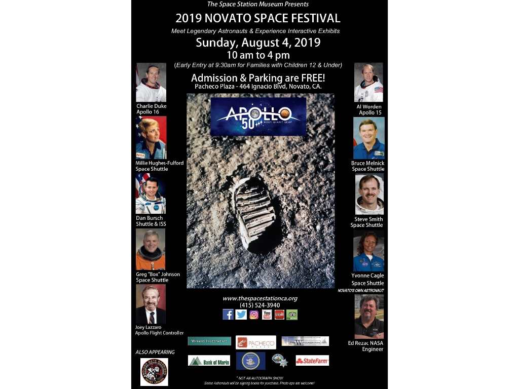 Get ready!  The 2019 Novato Space Festival is coming...