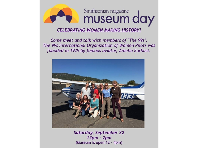 Come celebrate Museum Day with us and The Ninety Nines!